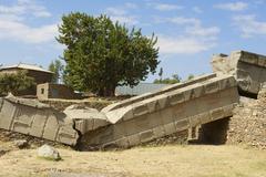 Stock Photo of UNESCO Heritage obelisks of Axum, Ethiopia.