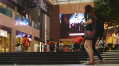 Young couple go shopping in Hong Kong 4K Stock Footage