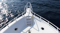 Luxury yacht, the nose of the boat - stock footage