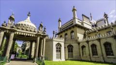 Timelapse view of the Brighton Royal pavillon - stock footage
