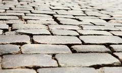 Pavement sett background Stock Photos