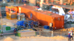Time lapse of Worker to working in industrial construction area - stock footage