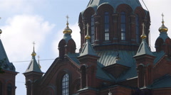 Uspenski Cathedral, Helsinki. Detail Stock Footage