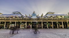 Timelapse view of the Covent Garden plaza Stock Footage