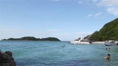 Ta Yai Beach in Koh Lan Island.PATTAYA ,CHONBURI,THAILAND Stock Footage