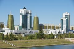 Stock Photo of Exterior of the modern buildings in Astana, Kazakhstan.