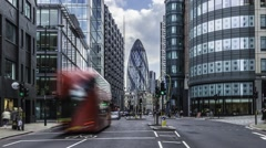 Time lapse of traffic in the City of London Stock Footage