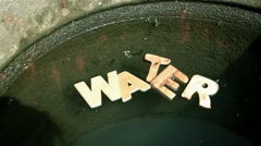 Water Word in poisoned water Stock Footage