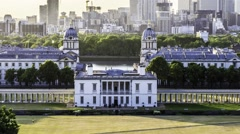 Timelapse of the Queen's house, Greenwich, London Stock Footage