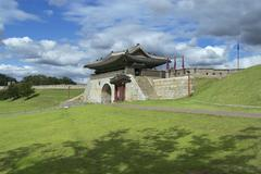 Stock Photo of Hwaseong fortress exterior in Suwon, South Korea.