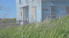 Old Salt Box Home Stock Footage