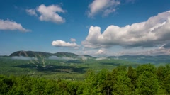 Clouds Time Lapse Over Ski Resort Sunday River Stock Footage