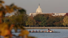 Washington DC Capitol Building Fall Riverside - stock footage