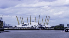 Timelapse of the millennium dome in North Greenwich Stock Footage
