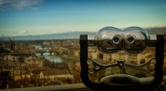 Binoculars - Florence, France - stock photo