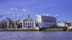 Time lapse of the City of London skyline at Blackfriars Stock Footage