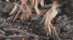 Campfire CloseUp -Cine Gamma- Stock Footage