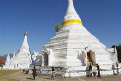 Phra That Doi Kong Mu temple, Mae Hong Son, Thailand. Stock Photos