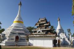 Phra That Doi Kong Mu temple, Mae Hong Son, Thailand. - stock photo