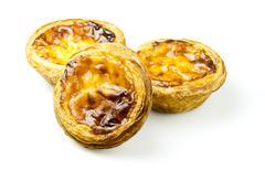 Pasteis de Nata, or Portuguese Custard Tarts - stock photo