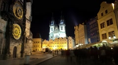 Astronomical Clock in Prague - stock footage