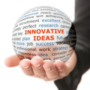Concept of innovative ideas in business - stock photo