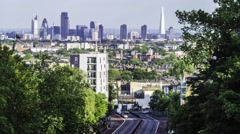 Timelapse view of London skyline viewed from the North Stock Footage
