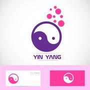 Stock Illustration of Yin yang meditation logo
