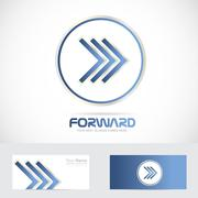 Arrow forward logo concept - stock illustration