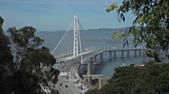 Oakland Bay Bridge - stock footage