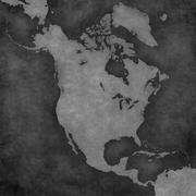 Map of North America - Blank Map Stock Illustration