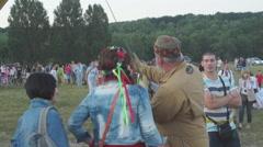 Ukraine, summer international music festival ethnic Stock Footage