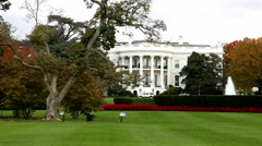Pan of White House in Washington, DC - stock footage