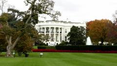 Tilt on White House in Washington, DC. Stock Footage