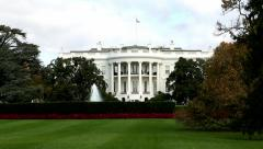 Tilt on White House in Washington, DC. - stock footage