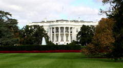 Fast Rack Focus on White House in Washington, DC. - stock footage