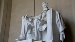 Rack Focus on Lincoln Memorial in Washington, DC - stock footage