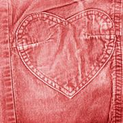 Red old velvet jeans Stock Photos