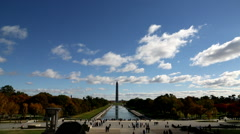 Tilt on National Mall in Washington, DC Stock Footage