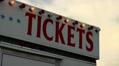 Carnival Ticket booth with flashing lights - stock footage