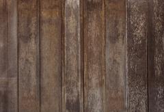 Arrangement of old bark wood textured panel use as grain wooden Stock Photos