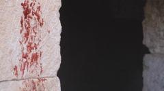 Goats Blood on the Door Post, Biblical Reenactment - stock footage