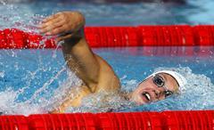 Hungarian swimmer Katinka Hosszu - stock photo