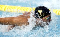 South African swimmer Chad le Clos - stock photo