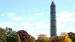 Tilt on Washington Monument in Washington, DC - stock footage