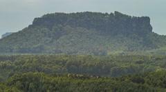 Lilienstein Sandstone Rocks In Saxon Switzerland Germany 41 - stock footage