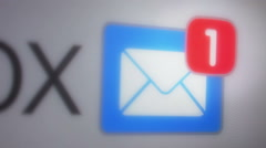 email inbox - stock footage