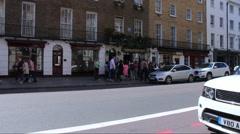Sherlock Holmes Museum on Baker Street. London Stock Footage