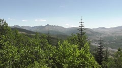 Pan from Mt. Adams To Mt. St. Helens - stock footage