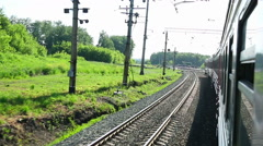 Train stop Stock Footage